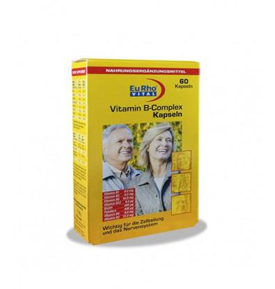خرید اینترنتی کپسول ویتامین ب کمپلکس یوروویتال 60 عددی