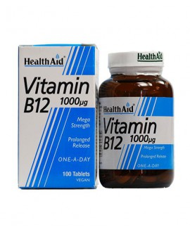 خرید آنلاین قرص ویتامین ب 12 1000 میکروگرم هلث اید 50 عددی