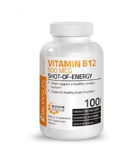 خرید آنلاین قرص ویتامین ب 12 500 میکروگرم برانسون 100 عددی