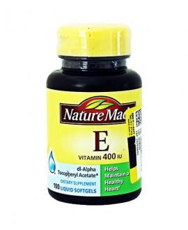 ترکیبات کپسول سافت ژل ویتامین ای 400 واحد نیچرمید 100 عددی