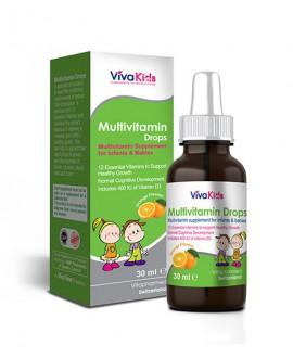 ترکیبات قطره مولتی ویتامین ویواکیدز 30 میلی لیتر