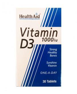 خرید اینترنتی قرص ویتامین دی 3 هلث اید 1000 میکروگرم 30 عددی
