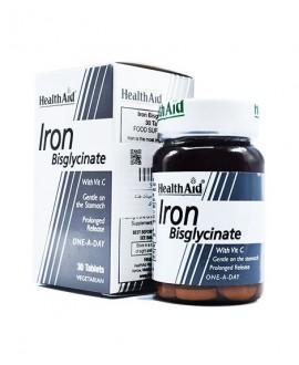 قرص آهن با ویتامین ث آیرون بس گلیسینات هلث اید 30 عددی