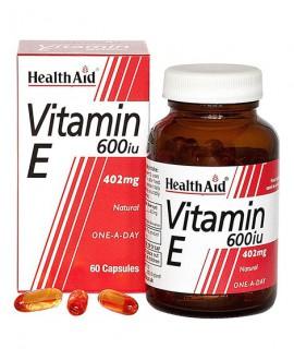 خرید اینترنتی کپسول ویتامین ای 600 واحد هلث اید 30 عددی