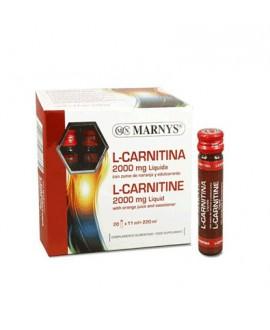 خرید اینرنتی ال کارنیتین 2000 مایع مارنیز 20 عدد در هر بسته