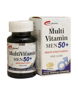 ترکیبات مولتی ویتامین بالای 50 سال اس تی پی فارما 30 عددی