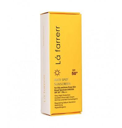 خرید اینترنتی کرم ضد آفتاب و ضد لک بی رنگ پوست چرب SPF 50 لافارر