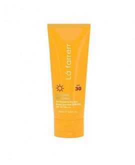 خرید اینترنتی کرم ضد آفتاب و ضد لک بی رنگ پوست خشک و معمولی SPF 30 لافارر