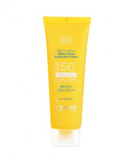 خرید اینترنتی کرم ضد آفتاب بی رنگ پوست چرب SPF50 سینره 50 میلی لیتر