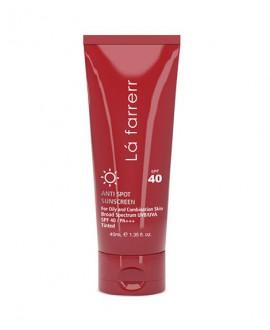 خرید اینترنتی کرم ضد آفتاب و ضد لک رنگی پوست چرب SPF40 لافارر 40 میلی لیتر