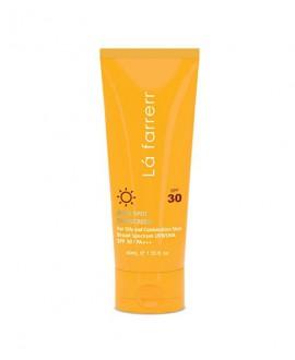 کرم ضد آفتاب و ضد لک بی رنگ پوست چرب SPF 30 لافارر 40 میلی لیتر