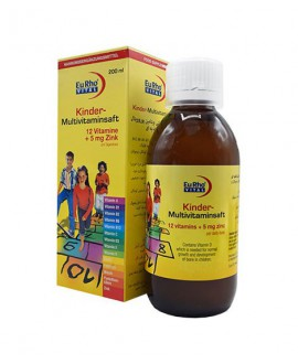 ترکیبات شربت کیندر مولتی ویتامین یوروویتال 200 میلی لیتر