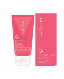 خرید اینترنتی ژل شستشوی صورت 3 مخصوص پوست خشک و حساس لافارر 150میلی لیتر