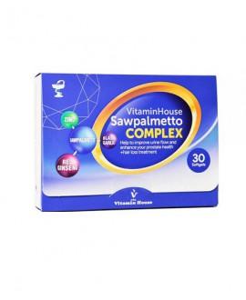 خرید اینترنتی سافت ژل ساوپالمتو کمپلکس ویتامین هاوس 30 عددی