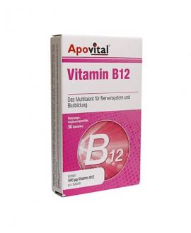 خرید اینترنتی قرص ویتامین ب12 500 میکروگرم آپوویتال 30 عددی