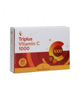 قرص تری پلاس ویتامین C 1000 میلی گرم ویتامین هاوس 30 عددی