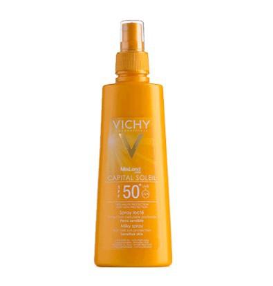 خرید اینترنتی اسپری ضد آفتاب شیری بدن ویشی 200 میلی لیتر