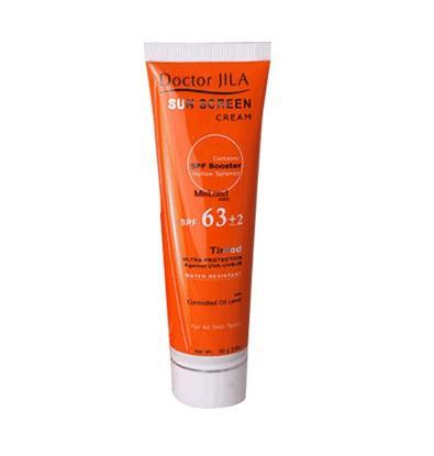 خرید اینترنتی کرم ضد آفتاب رنگی SPF63 دکتر ژیلا 50 میلی لیتر