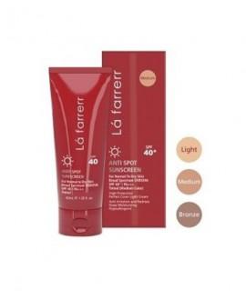 خرید اینترنتی کرم ضد آفتاب و ضد لک رنگی SPF40 پوست معمولی و خشک لافارر 40 میلی لیتر
