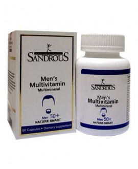 خرید اینترنتی کپسول مولتی ویتامین بالای 50 سال آقایان سندروس 60 عددی