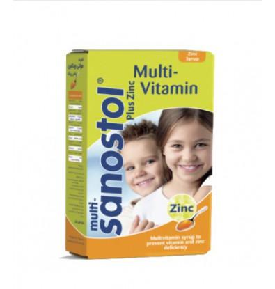 خرید شربت مولتی ویتامین پلاس زینک سانستول