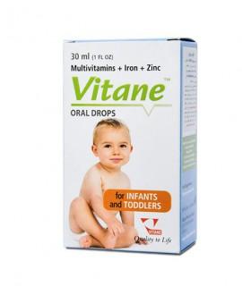 خرید آنلاین قطره مولتی ویتامین با آهن و زینک ویتان 30 میلی لیتر