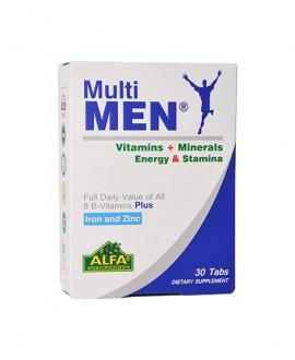 ترکیبات قرص مولتی من آلفا ویتامینز 30 عددی