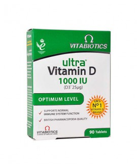 خرید اینترنتی قرص اولترا ویتامین D3 ویتابیوتیکس 90 عددی
