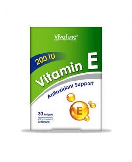 ترکیبات سافت ژل ویتامین ای 200 واحد ویواتیون 30 عددی