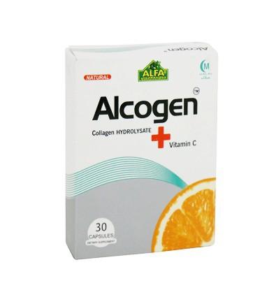 خرید اینترنتی کپسول آلکوژن با ویتامین C آلفا ویتامینز 30 عددی