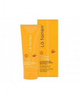 خرید آنلاین کرم ضد آفتاب و ضد لک بی رنگ پوست خشک و معمولی SPF50 لافارر