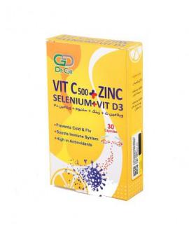 خرید اینترنتی کپسول ویتامین ث زینک سلنیوم و د3 دکتر گیل