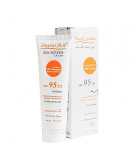 خرید آنلاین کرم ضد آفتاب بی رنگ با چربی کنترل شده 95 SPF دکتر ژیلا