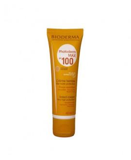 خرید اینترنتی کرم ضد آفتاب فتودرم مکس SPF100 بایودرما بژ روشن 40 میلی لیتر