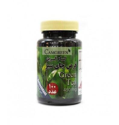 خرید اینترنتی قرص چای سبز کام گرین 100 عددی
