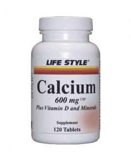 قرص کلسیم 600 و ویتامین دی و مینرال لایف استایل 120 عددی
